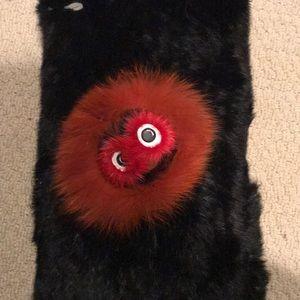 New Fur snood Annabelle fur monster scarf black